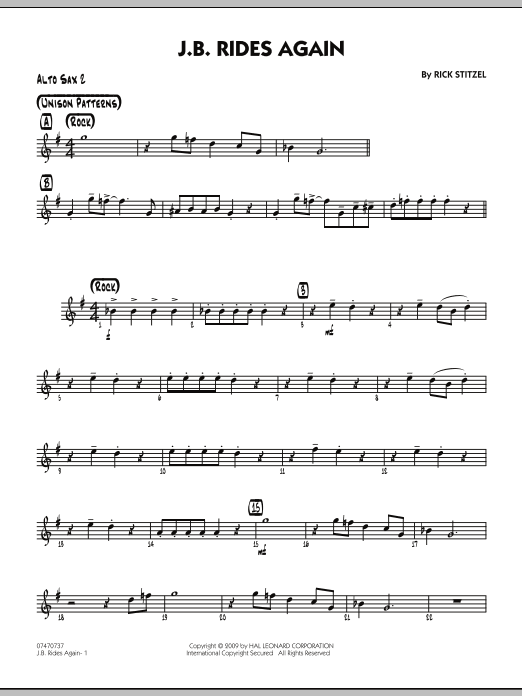 J.B. Rides Again - Alto Sax 2 (Jazz Ensemble)