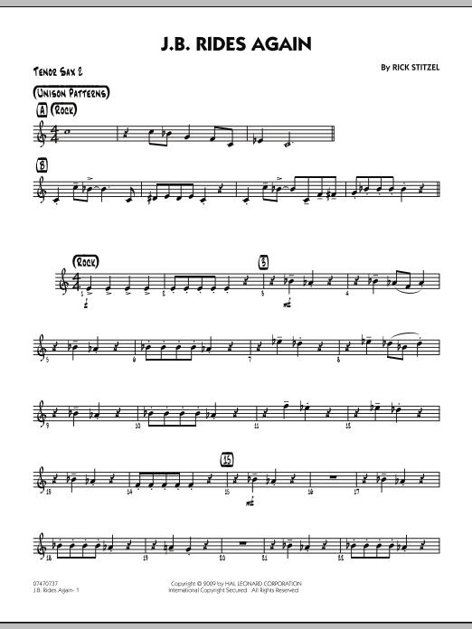 J.B. Rides Again - Tenor Sax 2 (Jazz Ensemble)