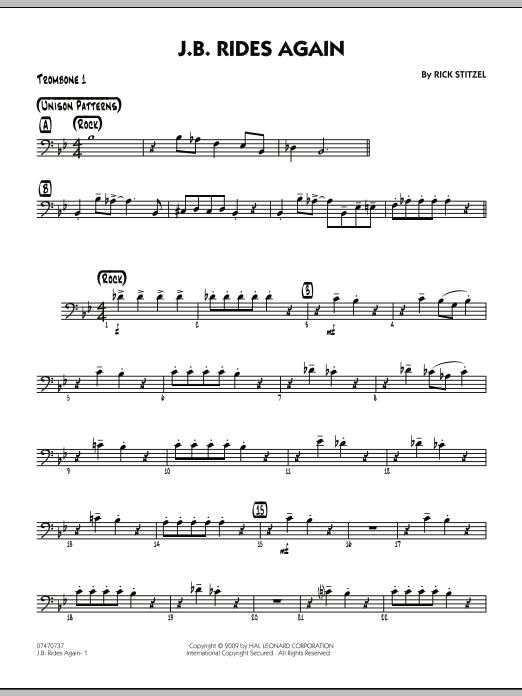 J.B. Rides Again - Trombone 1 (Jazz Ensemble)