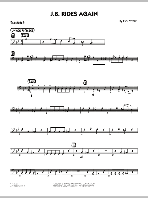J.B. Rides Again - Trombone 3 (Jazz Ensemble)