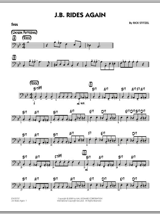 J.B. Rides Again - Bass (Jazz Ensemble)