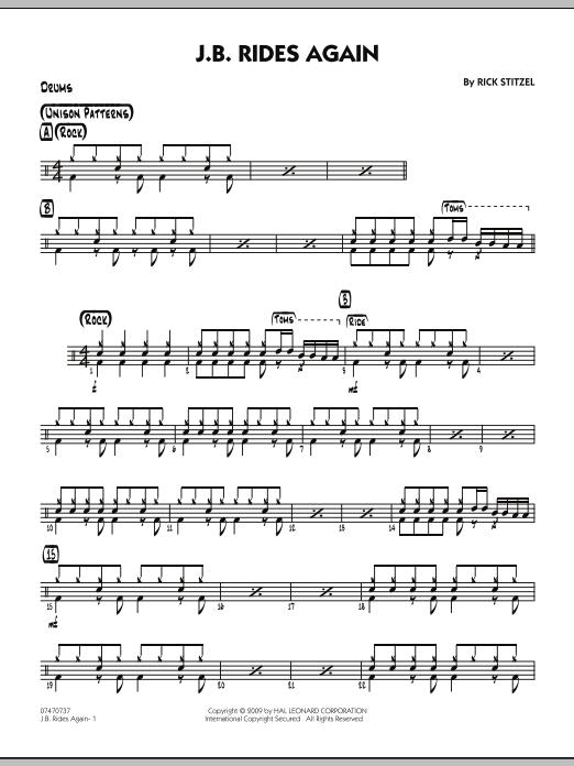 J.B. Rides Again - Drums (Jazz Ensemble)