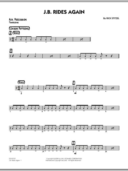 J.B. Rides Again - Aux Percussion (Jazz Ensemble)