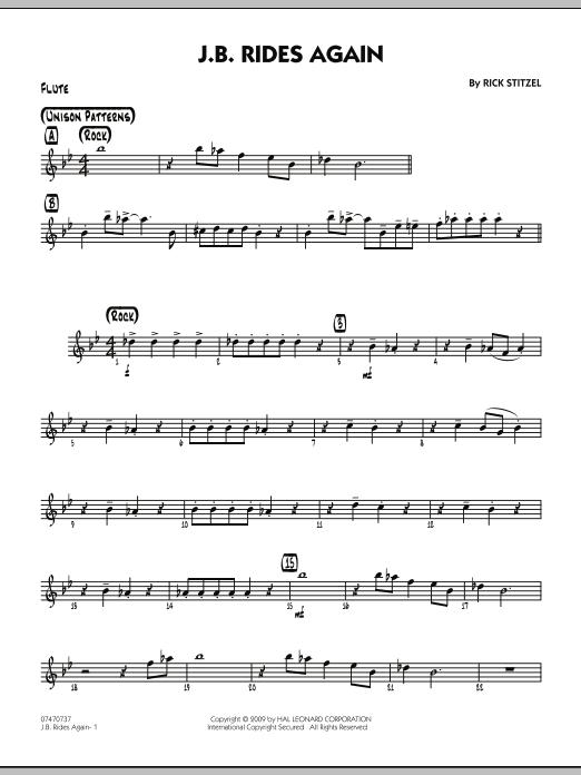 J.B. Rides Again - Flute (Jazz Ensemble)