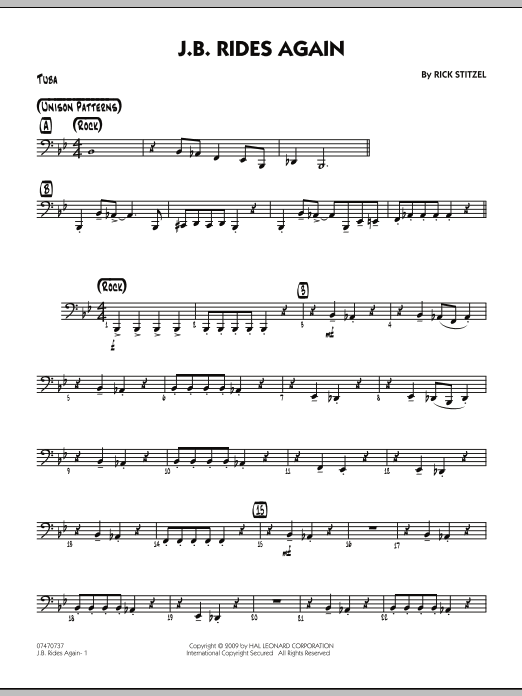 J.B. Rides Again - Tuba (Jazz Ensemble)