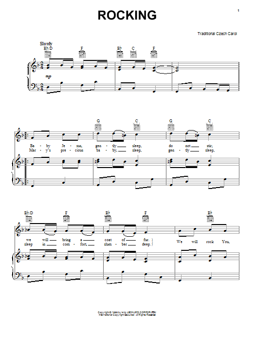 Little Jesus (Rocking Carol) (Piano, Vocal & Guitar (Right-Hand Melody))