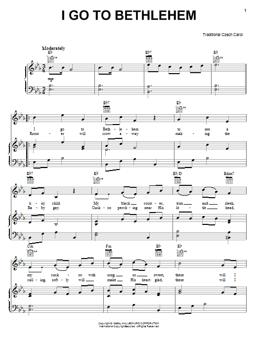 I Go To Bethlehem Sheet Music