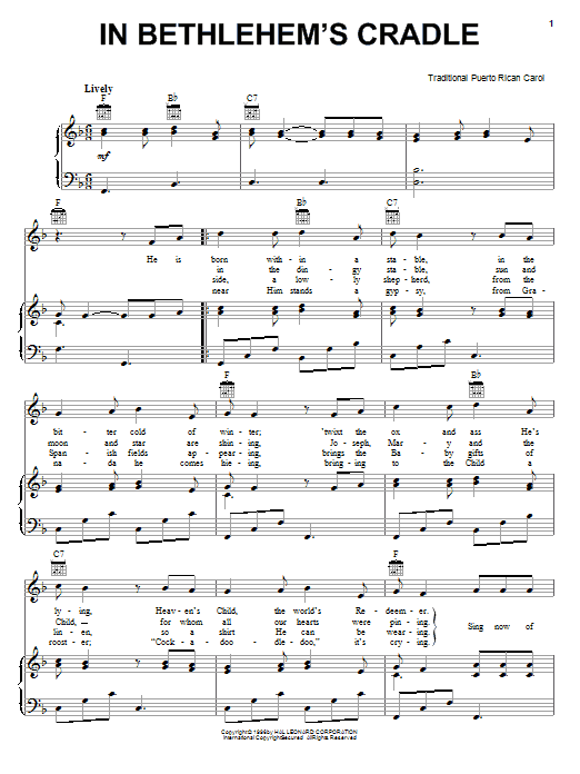 In Bethlehem's Cradle Sheet Music