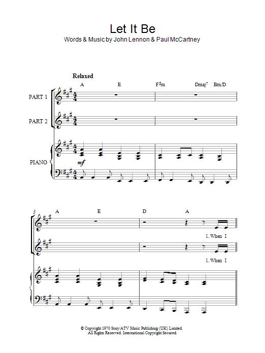 Let It Be (arr. Rick Hein) (2-Part Choir)