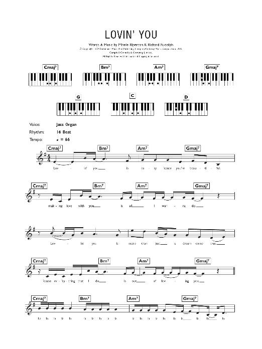 Lovin' You (Piano Chords/Lyrics)