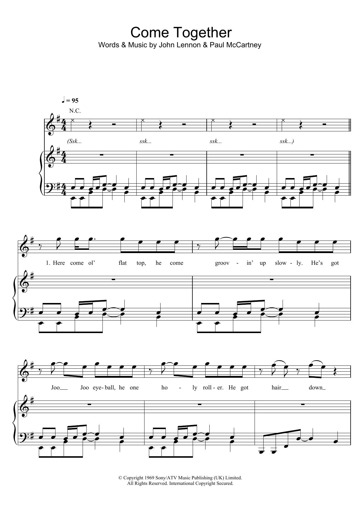 Come Together (Piano, Vocal & Guitar)
