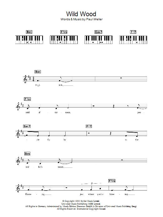 Wild Wood (Piano Chords/Lyrics)