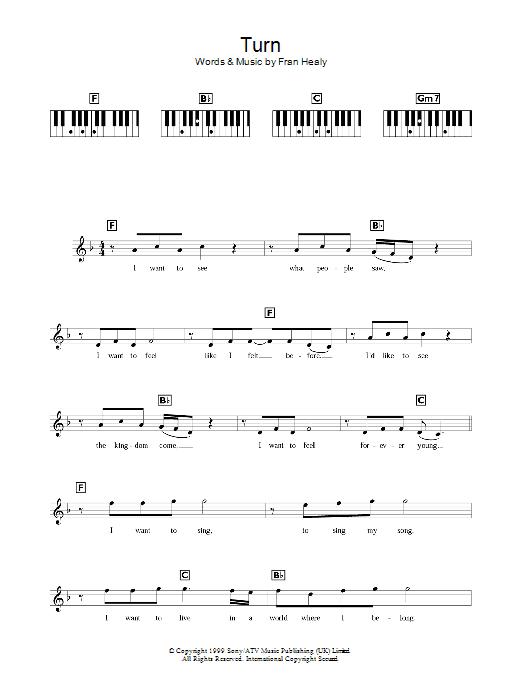 Turn (Piano Chords/Lyrics)