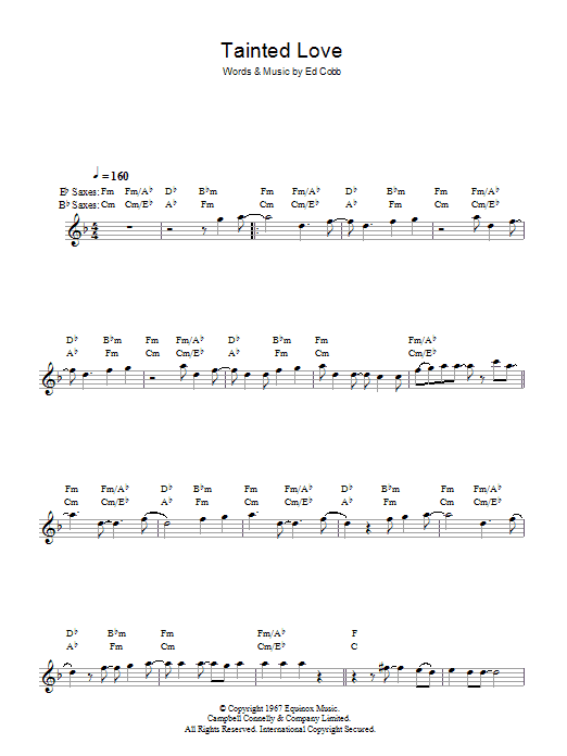 Tainted Love (Lead Sheet / Fake Book)