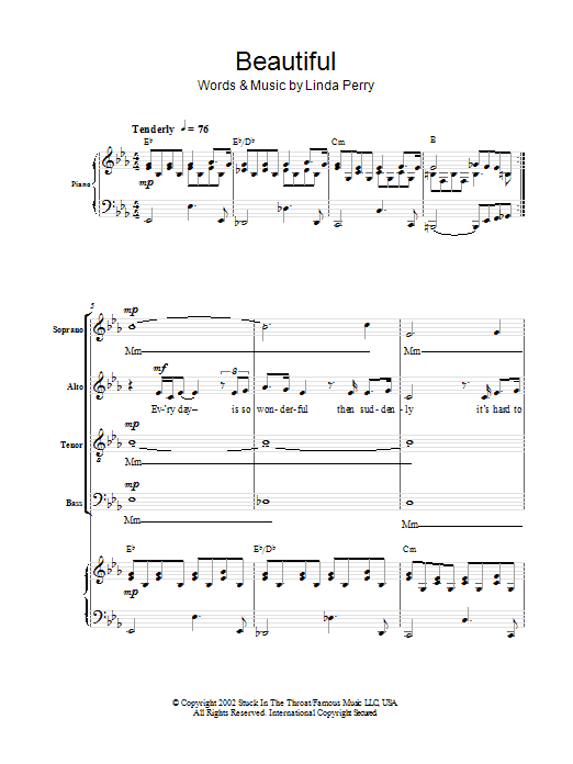Beautiful Sheet Music