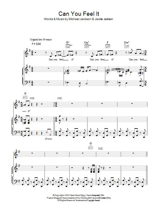 Can You Feel It Sheet Music