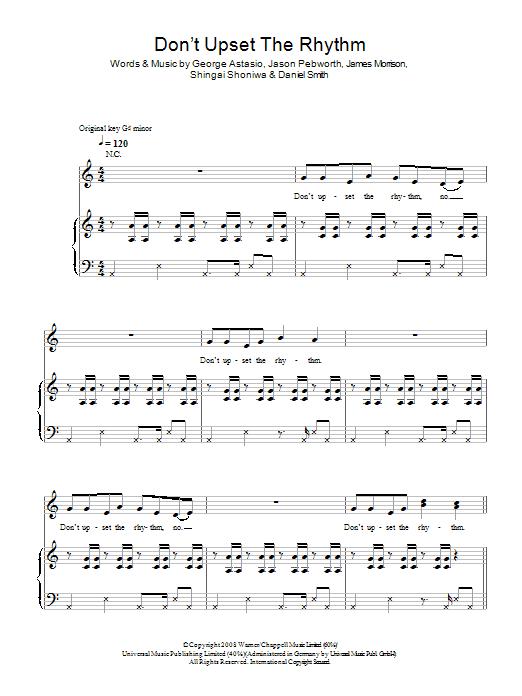 Don't Upset The Rhythm Sheet Music