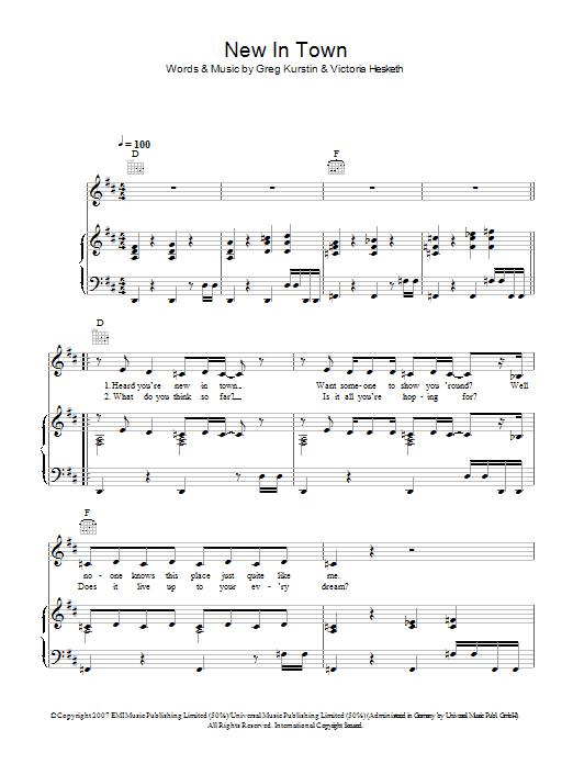 New In Town Sheet Music