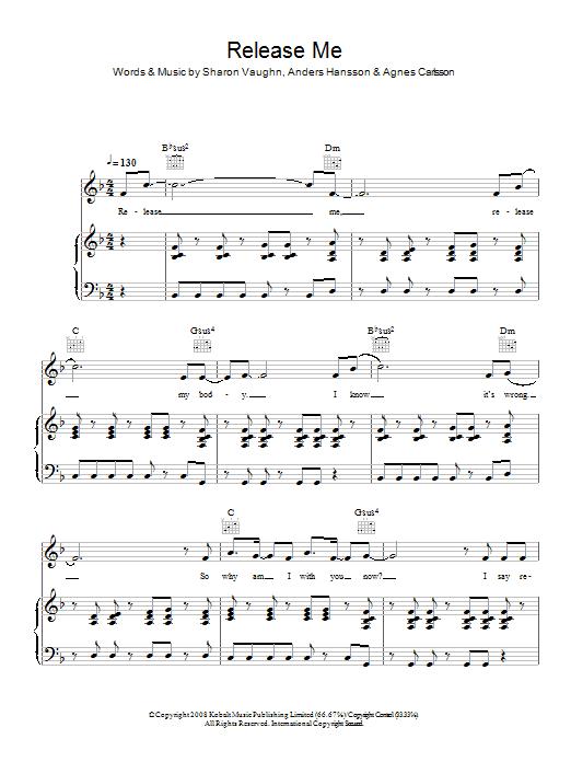 Release Me (Piano, Vocal & Guitar)