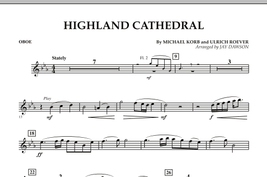 Highland Cathedral - Oboe (Concert Band)