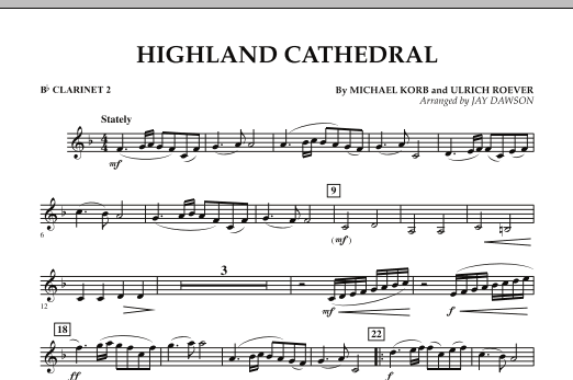 Highland Cathedral - Bb Clarinet 2 (Concert Band)