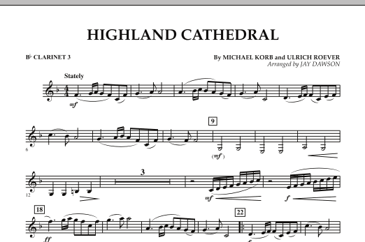 Highland Cathedral - Bb Clarinet 3 (Concert Band)