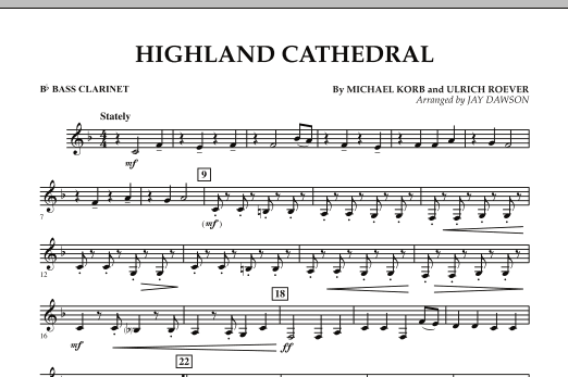 Highland Cathedral - Bb Bass Clarinet (Concert Band)