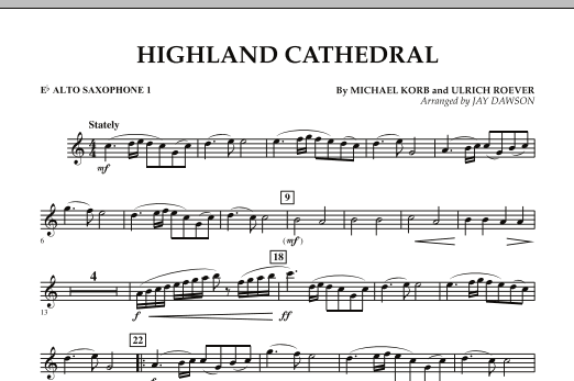 Highland Cathedral - Eb Alto Saxophone 1 (Concert Band)