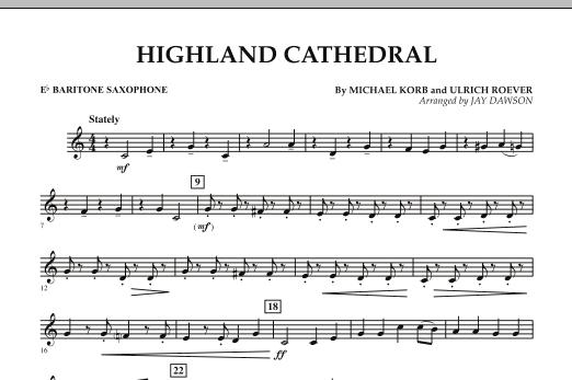Highland Cathedral - Eb Baritone Saxophone (Concert Band)