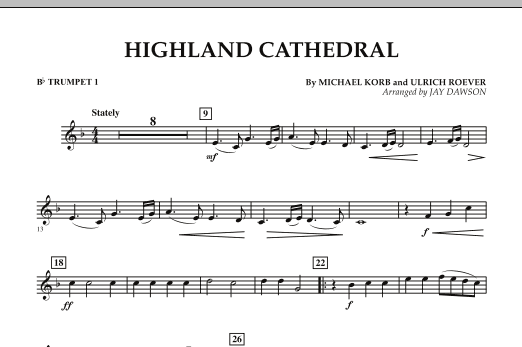 Highland Cathedral - Bb Trumpet 1 (Concert Band)
