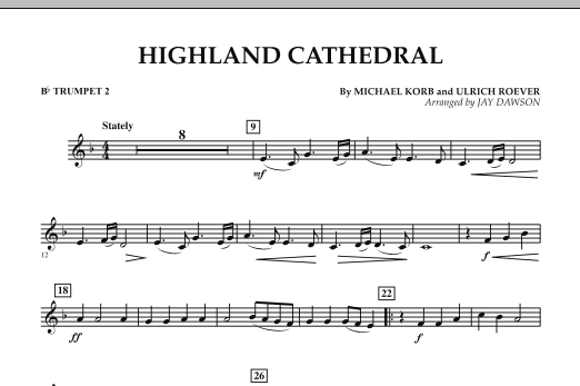 Highland Cathedral - Bb Trumpet 2 (Concert Band)
