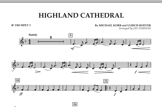 Highland Cathedral - Bb Trumpet 3 (Concert Band)