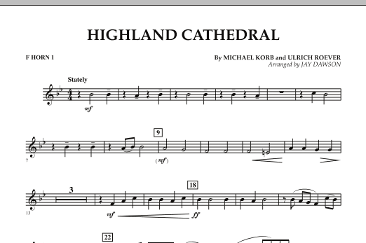 Highland Cathedral - F Horn 1 (Concert Band)