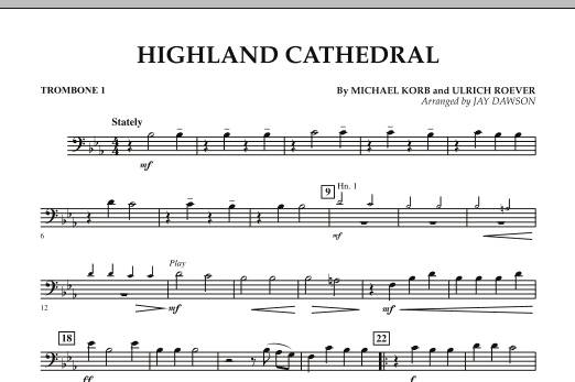 Highland Cathedral - Trombone 1 (Concert Band)
