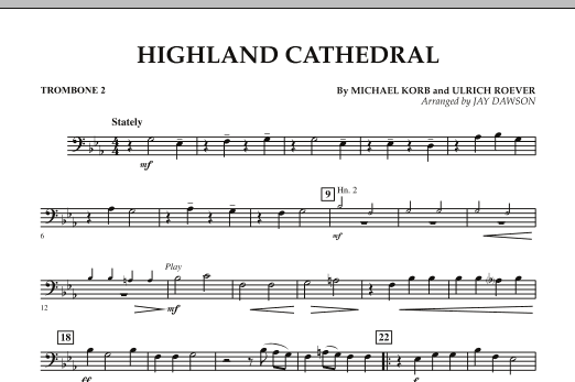 Highland Cathedral - Trombone 2 (Concert Band)