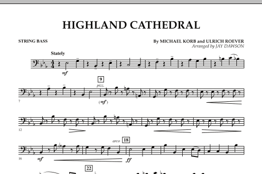 Highland Cathedral - String Bass (Concert Band)