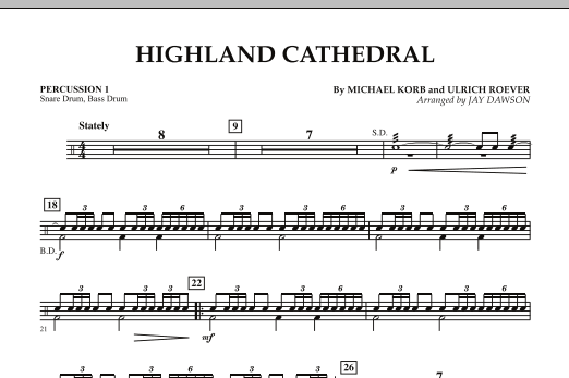 Highland Cathedral - Percussion 1 (Concert Band)