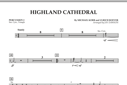 Highland Cathedral - Percussion 2 (Concert Band)