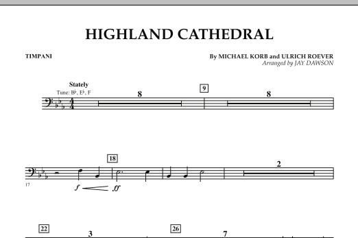 Highland Cathedral - Timpani (Concert Band)