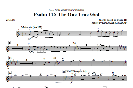 Psalm 115: The One True God (complete set of parts) sheet music for orchestra/band (Special) by Ed Lojeski and Miscellaneous. Score Image Preview.