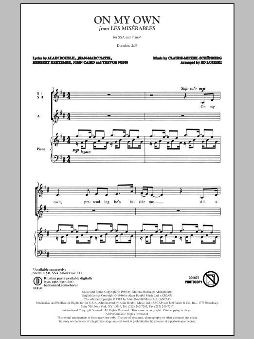 On My Own Sheet Music