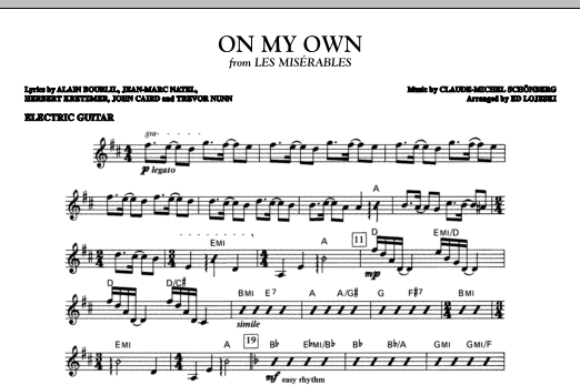 On My Own - Electric Guitar Sheet Music