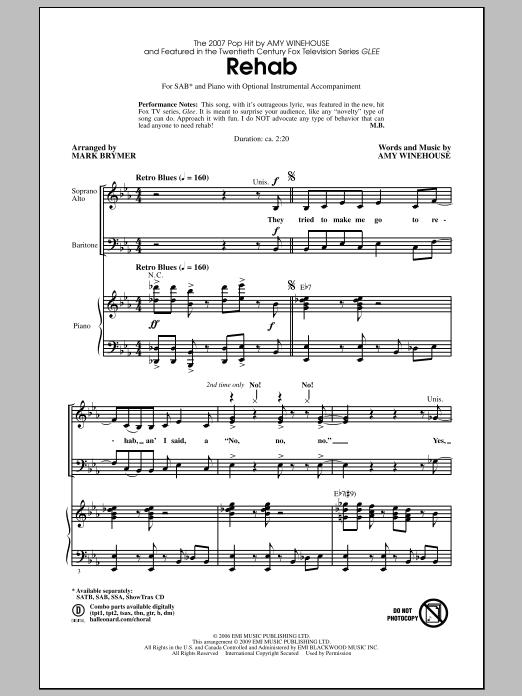 Rehab (SAB Choir)