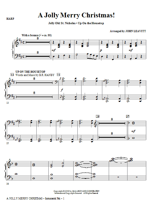 A Jolly Merry Christmas - Violin 1   Sheet Music Direct