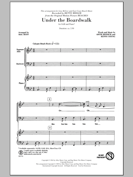 Under The Boardwalk (arr. Mac Huff) Sheet Music