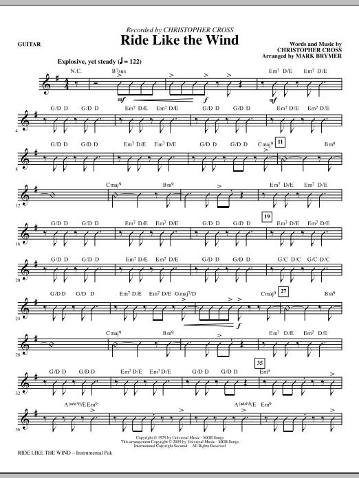 Ride Like The Wind - Guitar (Choir Instrumental Pak)