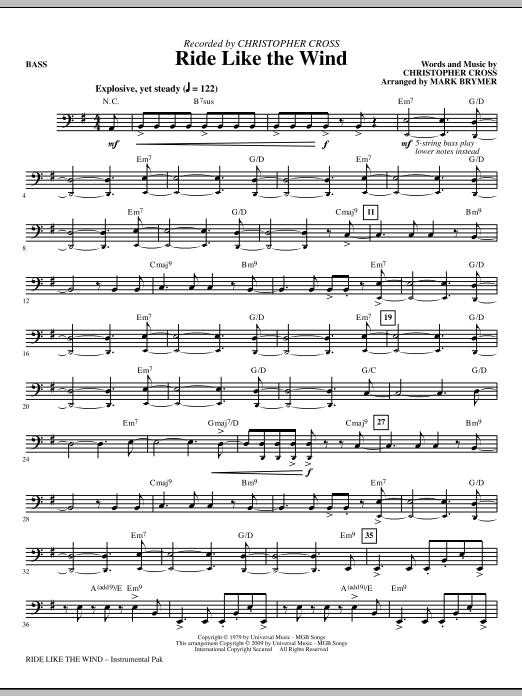 Ride Like The Wind - Bass (Choir Instrumental Pak)