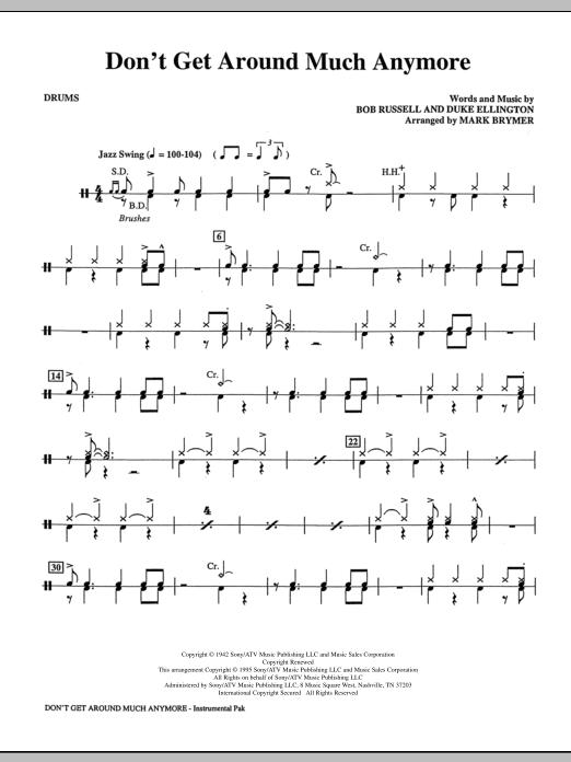 Don't Get Around Much Anymore - Drums (Choir Instrumental Pak)