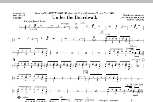 Under The Boardwalk - Drums (Choir Instrumental Pak)
