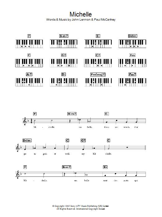 Michelle (Piano Chords/Lyrics)